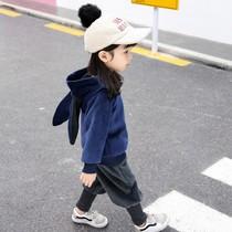 女童春装2019新款金丝绒洋气3岁女宝宝套装5加绒小童秋冬两件套