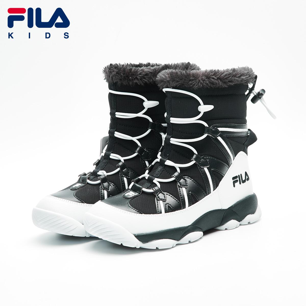 系带雪地棉鞋