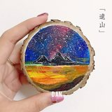 Logs annual rings, round wood painting, hand-painted small wooden ply, diy, handmade materials, wood, raw materials, decorative background
