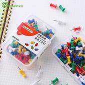 200枚2盒学生糖果彩色标准工字钉绘画板图钉美工钉盒装大头钉包邮