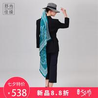 舒尚佳绫2018100%真丝大方巾丝巾女桑蚕丝围巾杭州丝绸礼品
