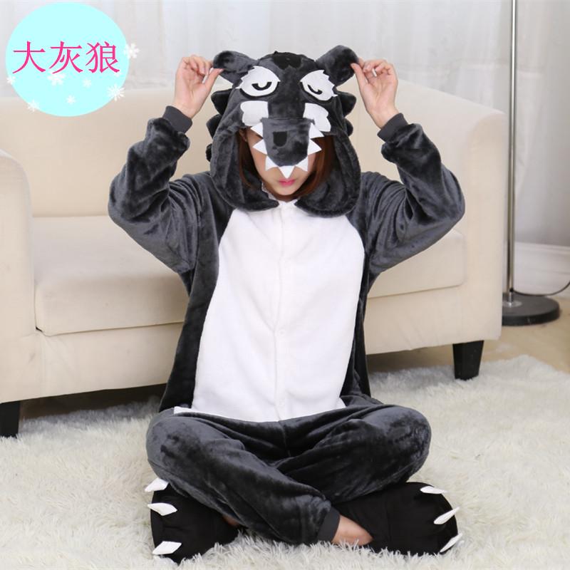 法兰绒豹纹睡衣