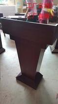 木纹演讲台红色白色接待台发言迎宾会议咨客台咨询台婚礼礼宾单人