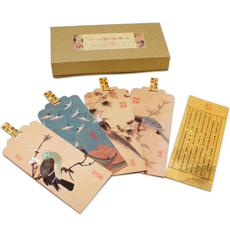 五艺创意特色丝绸书签礼物定制中国风礼品送老外出国留学伴手礼