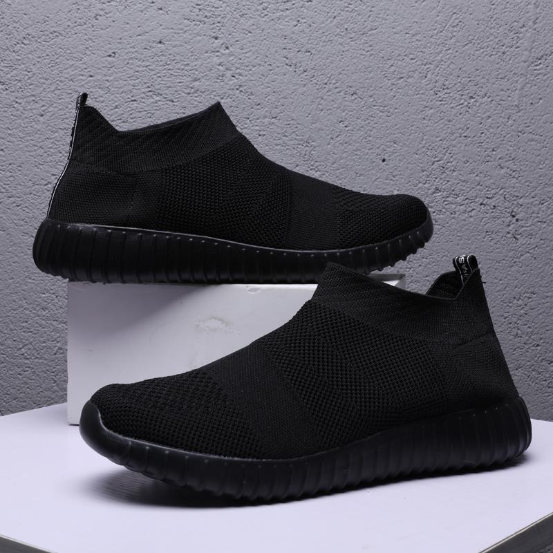 夏季加大号46男鞋网鞋特大码休闲鞋45袜子鞋男透气黑色网面运动鞋