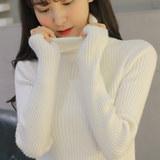 高领毛衣女2017秋冬韩版套头打底衫修身短款长袖加厚保暖针织衫潮