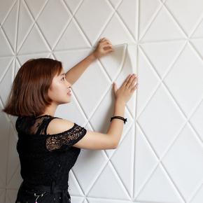 自粘墙纸3d立体墙贴电视背景墙软包防撞卧室客厅装饰防水泡沫壁纸