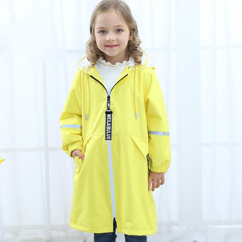 儿童雨衣男童女童幼儿园宝宝小学生孩子带书包位时尚防水雨披外套