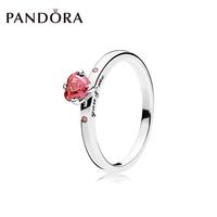 PANDORA潘多拉 你和我925银戒指196574CZRMX个性时尚叠戴食指戒女
