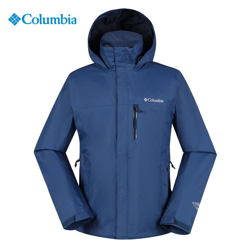 哥伦比亚男装秋冬季户外登山服运动夹克外套防风单层冲锋衣WE1286
