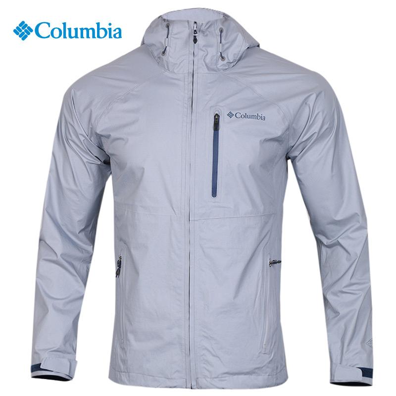 哥伦比亚官网单层冲锋衣男士外套户外运动上衣防水防风连帽夹克潮