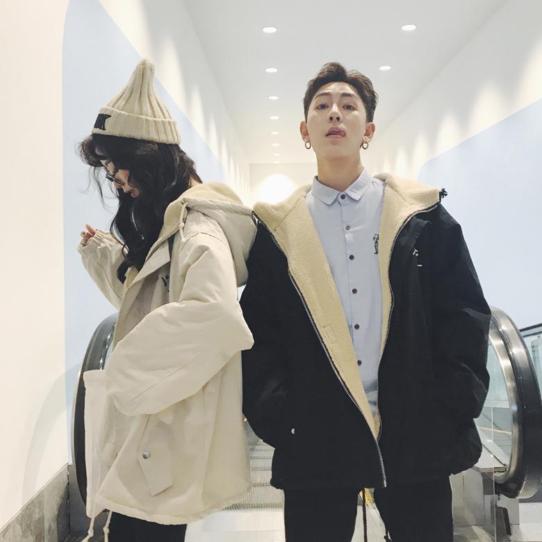 情侣棉衣韩