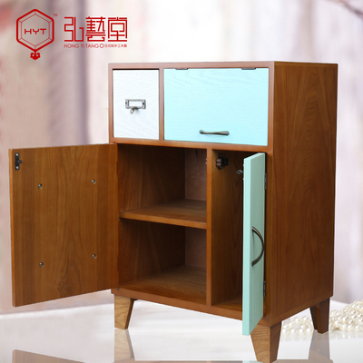 弘艺堂木质收纳柜储物柜抽屉式床头小柜多功能小物件整理柜大容量