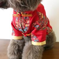 Dog New Year clothes Teddy law schnauzer cats pet dog Tang suit puppy autumn and winter new year net red winter clothing