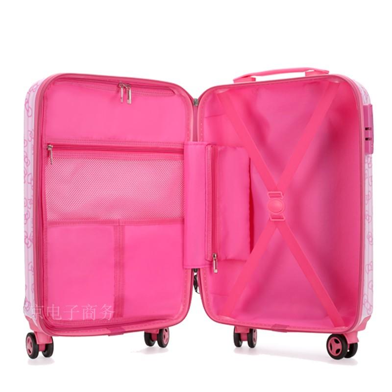 儿童行李箱旅行女宝宝18寸公主卡通万向轮20寸可坐密码男孩拉杆箱