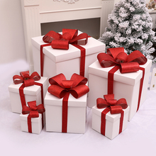 Mid-Autumn National Flag, Christmas decorations, white gift boxes, gift boxes, shopping windows, beautiful display props