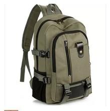 新款特价帆布大容量男士双肩包旅行背包时尚潮男中大学生书包包邮