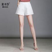 高腰阔腿短裤女夏2018新款夏季韩版宽松百搭a字提花大码热裤子