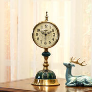 European retro clocks clocks living room large desk clock American mute clock bedroom desktop pendulum clock desktop ornaments