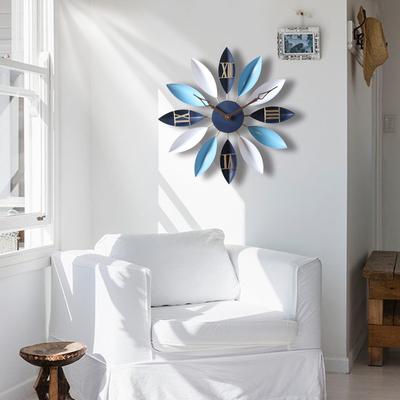 地中海北欧式客厅创意时尚艺术儿童静音卧室时钟家用挂表大挂钟表最新报价
