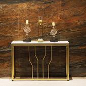 北欧创意大理石玄关桌 客厅条案端景台装饰柜 隔断靠墙边柜展示架