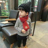 Children's bib male warm girl thick small scarf knit Korean version of the boy child baby girl scarf autumn and winter