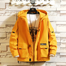Workwear jacket Men's new fashion in autumn 2019 Ins Men's wear Korean version of loose, fat, handsome and fashionable brand jacket