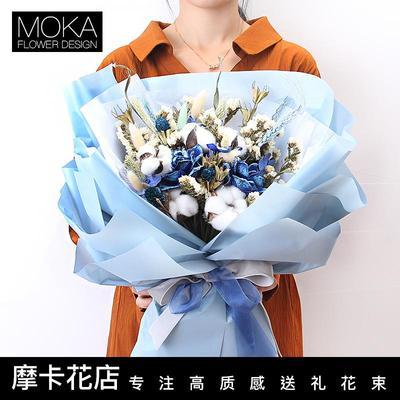 干花花束客厅装饰情人节品牌资讯
