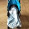 婴儿纯棉两件套被套枕套70*100cm蓝色(可做推车挡风巾)