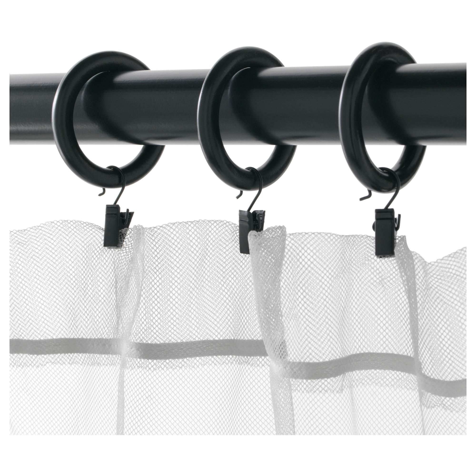 正品普图木制窗帘挂环圈圆形挂环夹子免打孔环圈罗马圈小圆圈通用