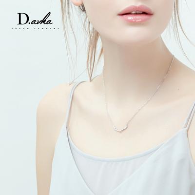 韩国鹿角项链女锁骨链简约学生925银饰品吊坠情侣个性毛衣挂件