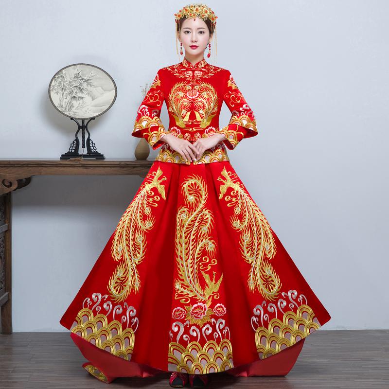 结婚礼服新款长旗袍