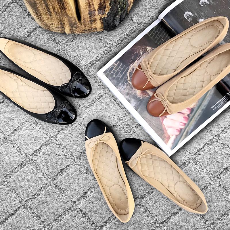 單鞋平底小香風