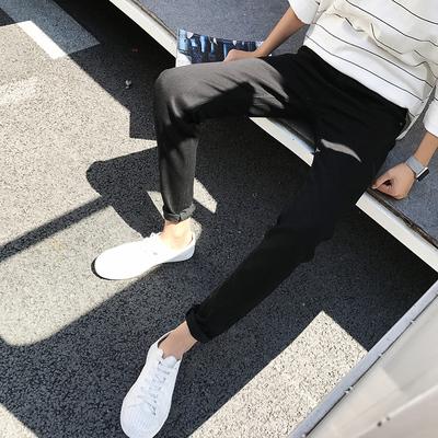 秋冬款青年保暖黑色牛仔裤男修身韩版潮流学生冬季加绒加厚小脚裤