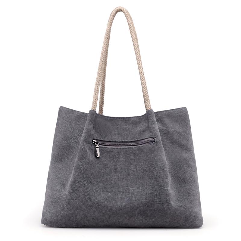 新款女包帆布包文艺范休闲包韩版女士单肩包手提大包购物袋式包包