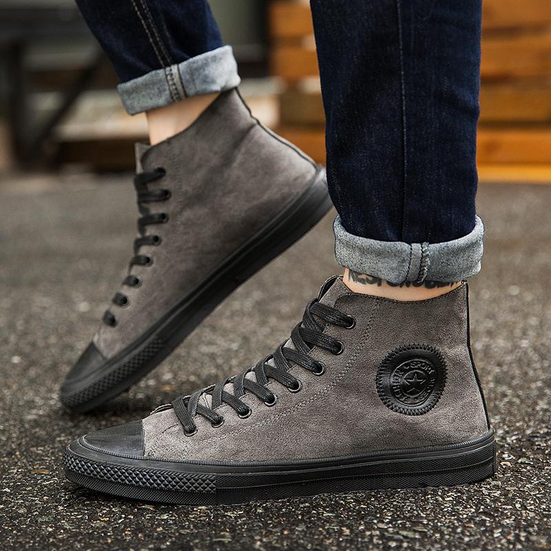 圆头板鞋中邦鞋