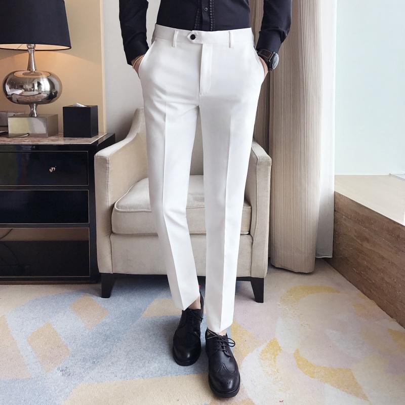 男白色裤子长
