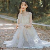 很仙的法国小众连衣裙两件套过膝秋冬复古裙学生初恋洋气大码法式