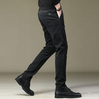 Pants men's winter plus velvet Korean version of the trend of straight casual pants men's autumn and winter thick winter wear warm loose