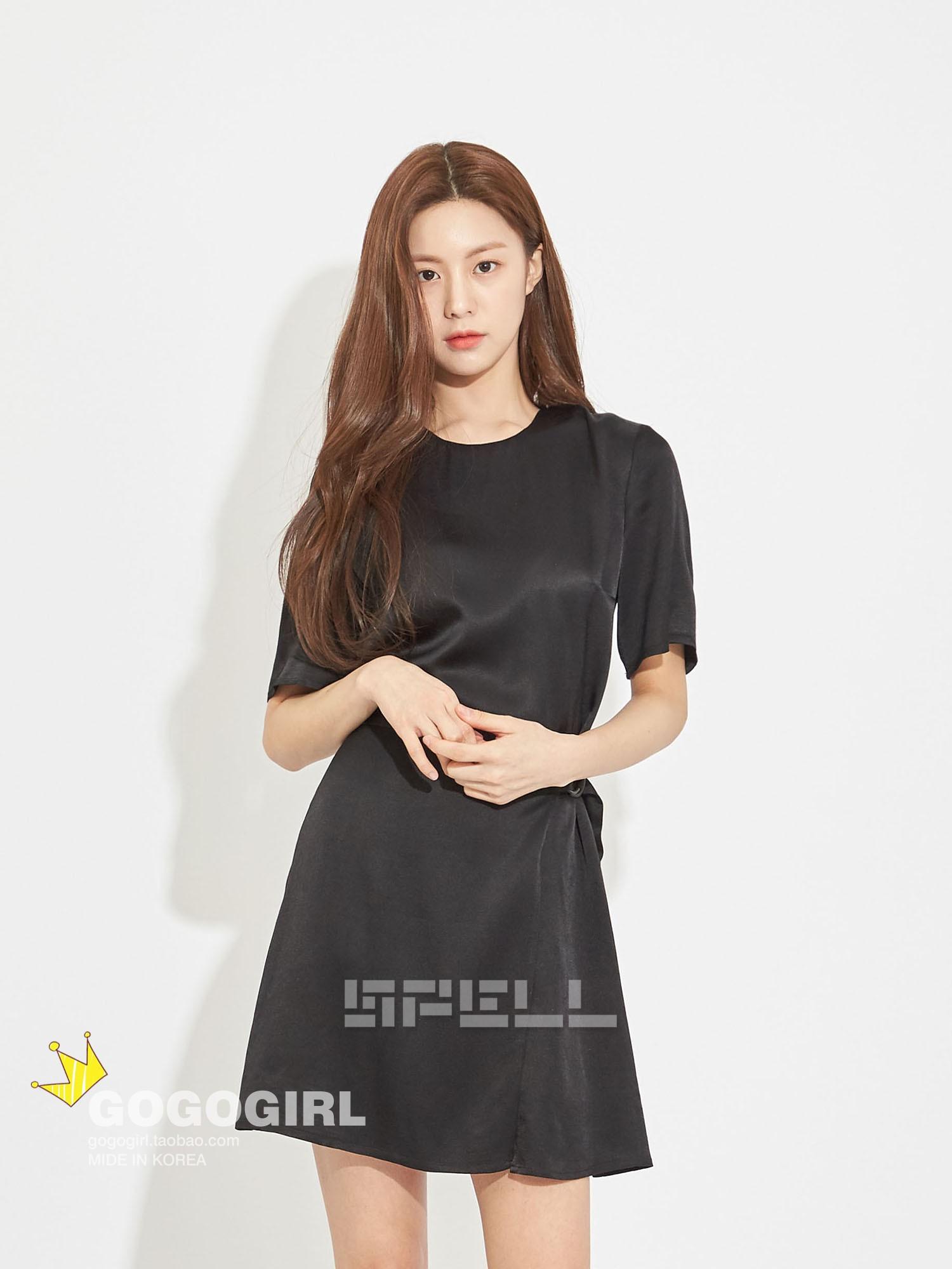 推荐 现 ~Gogogirl韩国代购正品SPELL EDIT腰部系扣防走光连衣裙