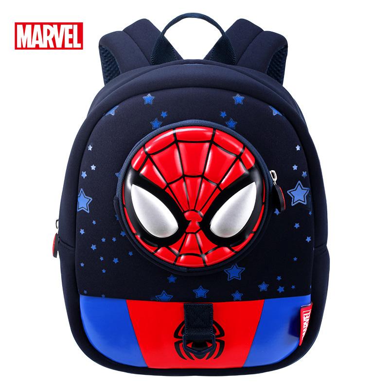迪士尼儿童书包幼儿园男孩美国队长2-6岁宝宝双肩包蜘蛛侠背包
