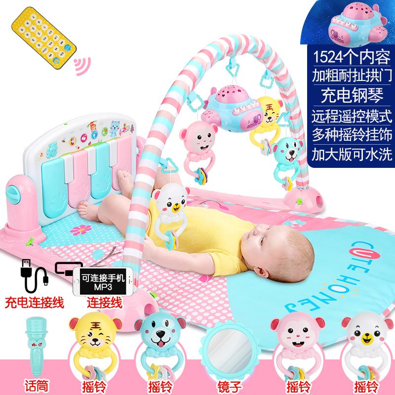 婴儿脚踏钢琴健身架器新生儿宝宝玩具益智0-1岁3-6-12个月5男女孩