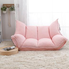 日式懒人沙发单人可折叠客厅布艺小户型卧室双人榻榻米休闲电视椅
