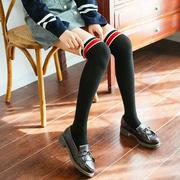 过膝袜长筒袜子女韩国日系高筒袜春季复古美腿显瘦打底高筒袜冬季