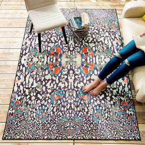 欧式创意抽象客厅家用茶几地毯 长方形卧室房间无毛榻榻米地垫子