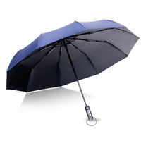 Automatic umbrella folding rain and rain dual-use umbrella reinforcement extra large double 30% wind student male and female creative umbrella
