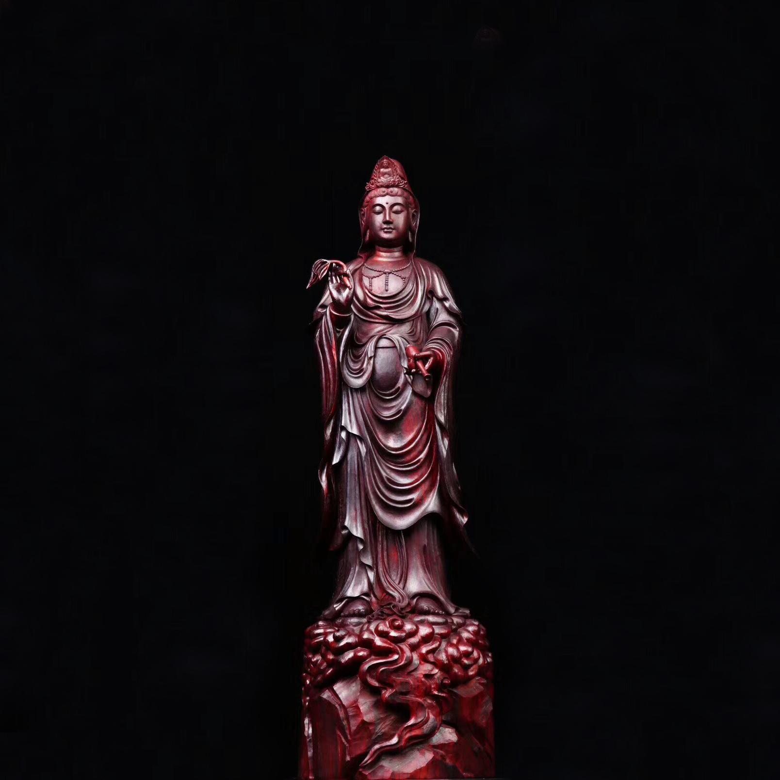 印度小叶紫檀木雕摆件