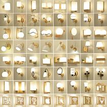 新中式水培植物壁灯客厅卧室灯楼梯过道房灯具简约北欧床头灯