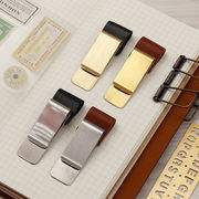 Traveler's travel notebook retro diary brass stainless steel pen holder ticket holder tn accessories pen plug