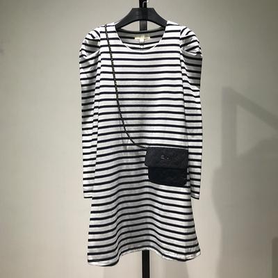 【灵】折扣品牌女装断码清仓特价正品条纹连衣裙5月7日晚8点上新